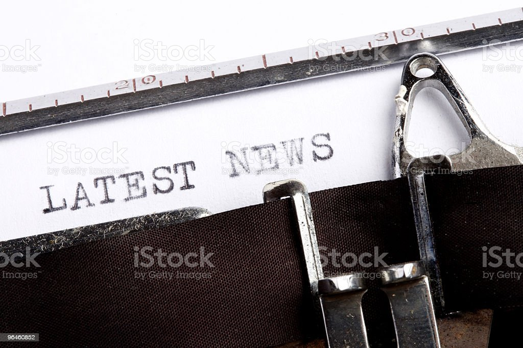 Latest News on an old typerwriter stock photo