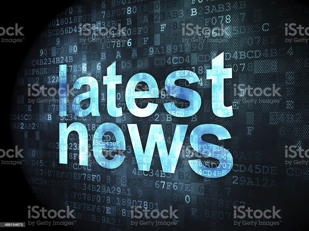 Latest News on digital background stock photo