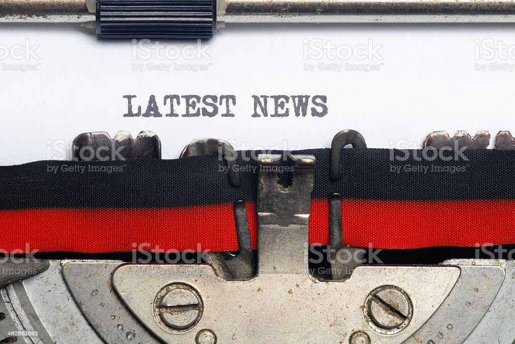 Latest News royalty-free stock photo