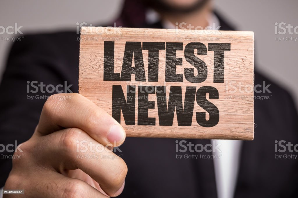 Latest News stock photo