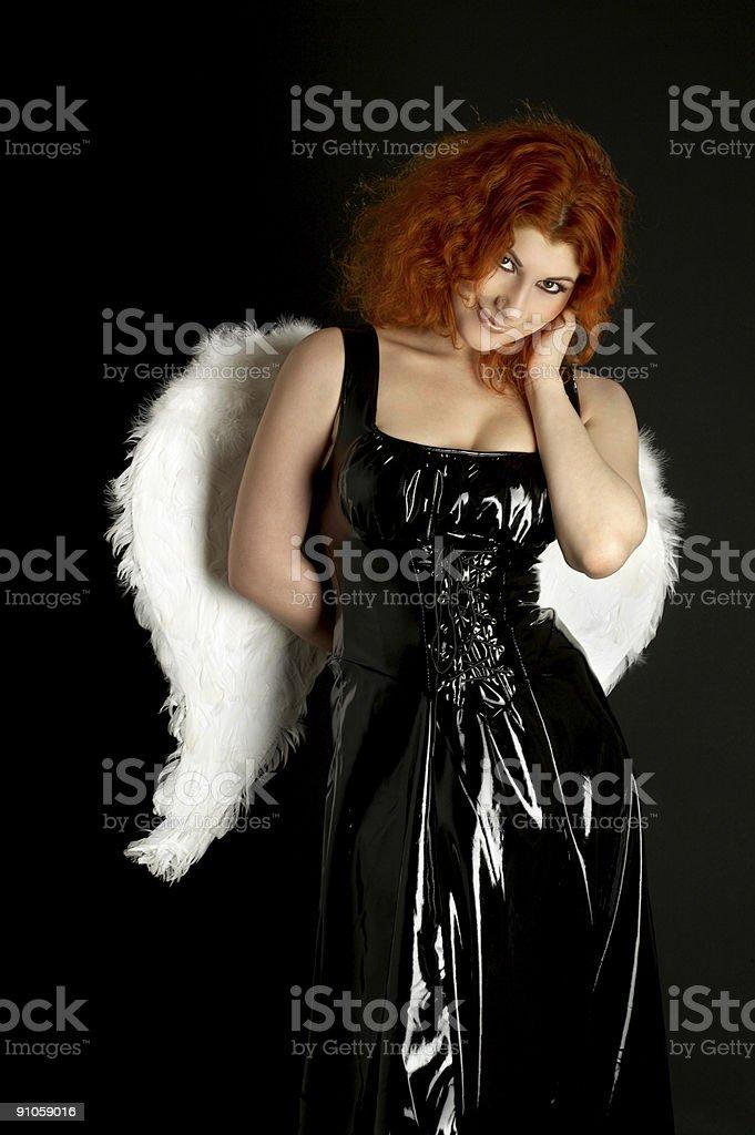 latex angel royalty-free stock photo
