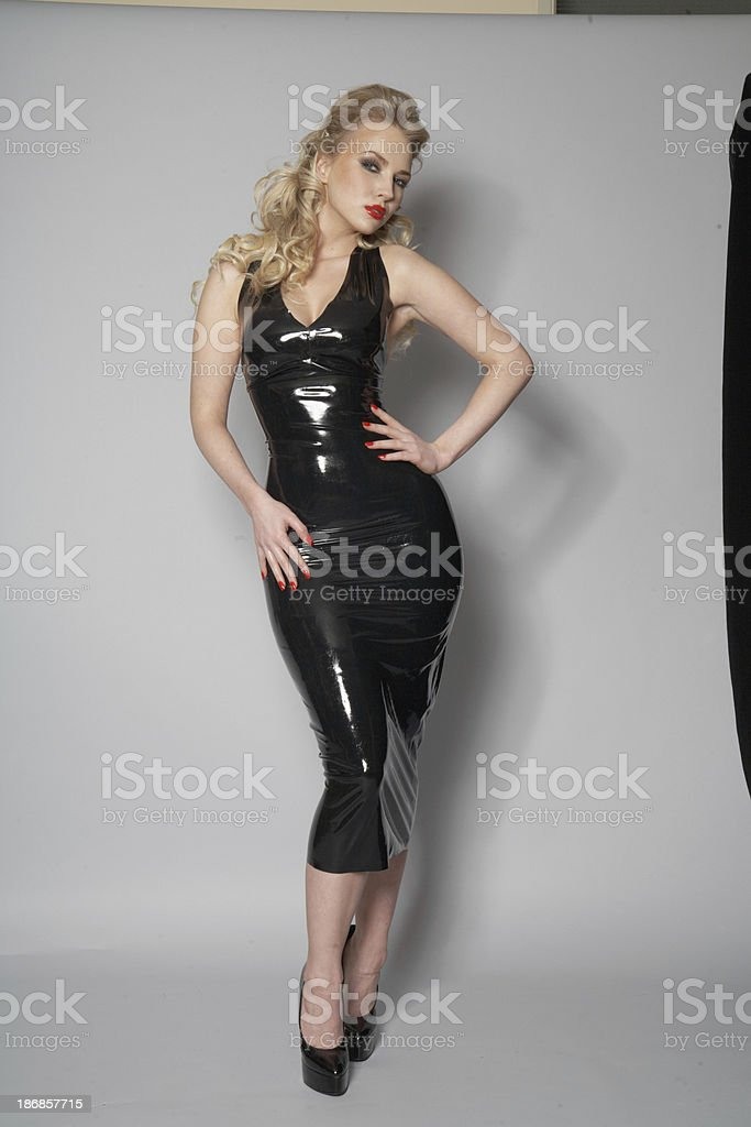 Latex Dress (unretouched) stock photo