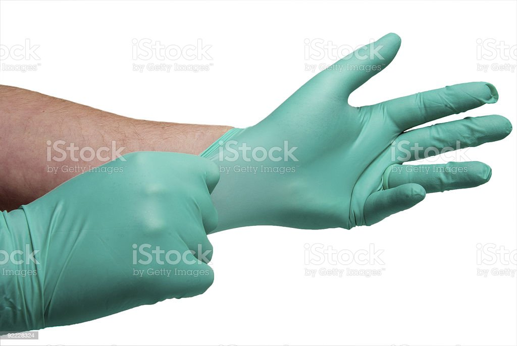 Latex Free Medical Gloves stock photo