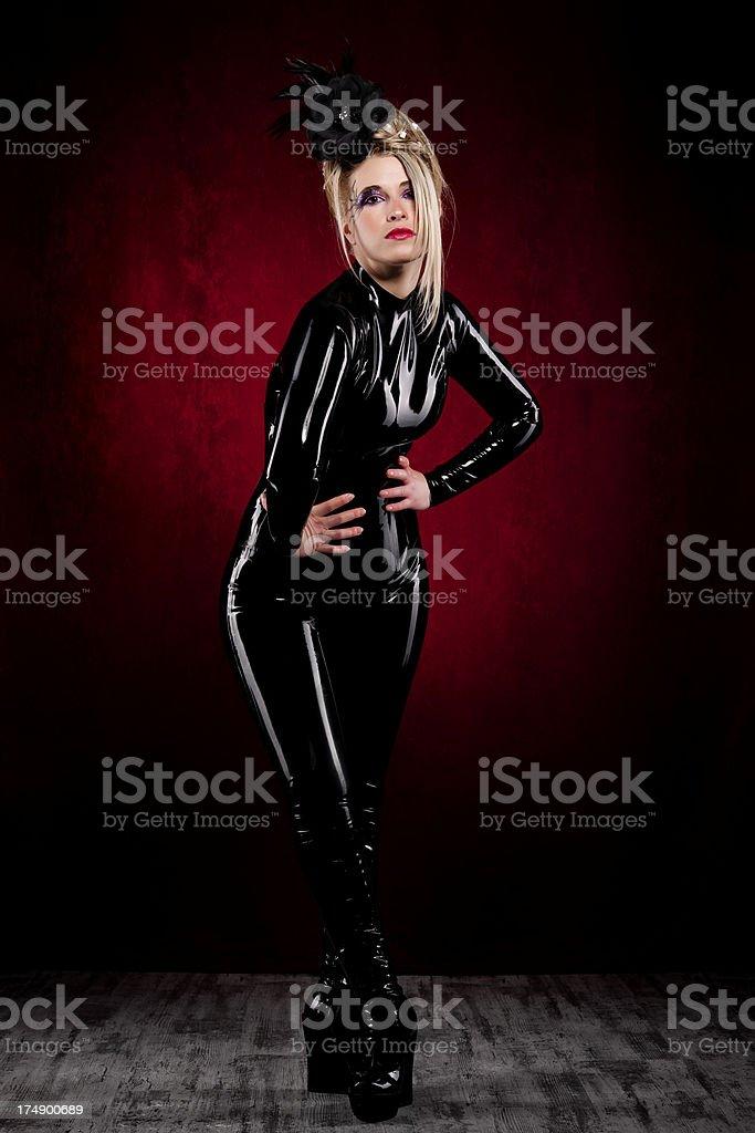 latex woman royalty-free stock photo
