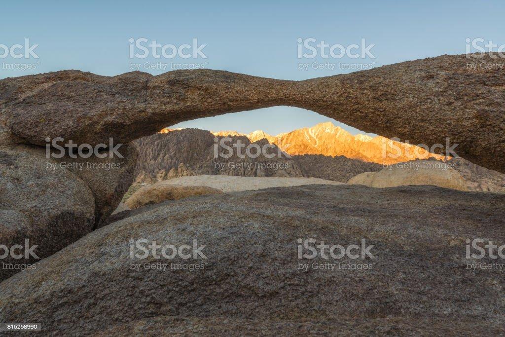 Lathe Arch Sunrise stock photo