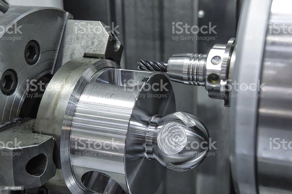 Lathe, CNC milling stock photo