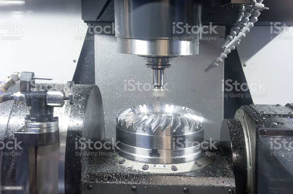 Lathe, CNC-Milling stock photo