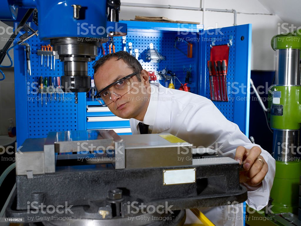 CNC Lathe Machine (Computer Numerical Control) royalty-free stock photo