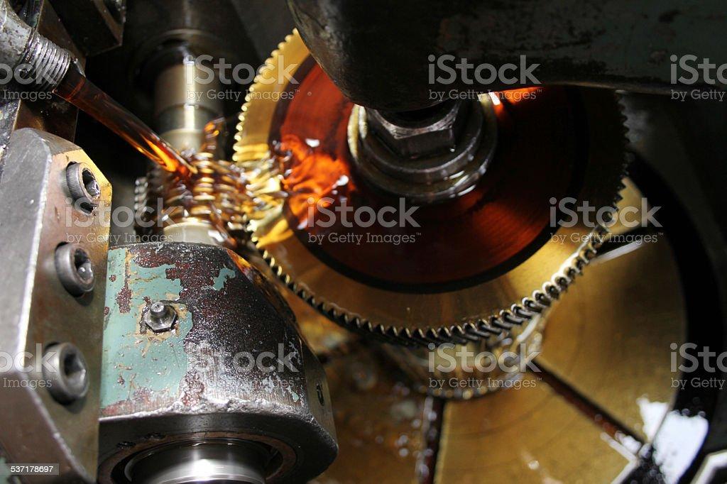 Lathe machine stock photo