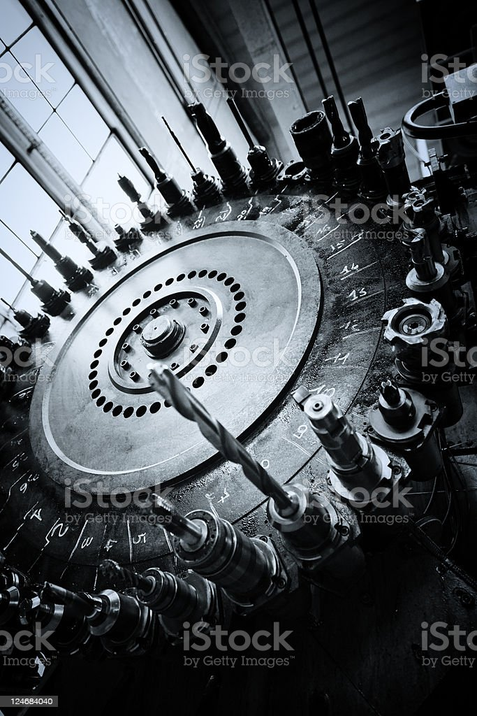 Lathe - Manufacturing Equipment stock photo