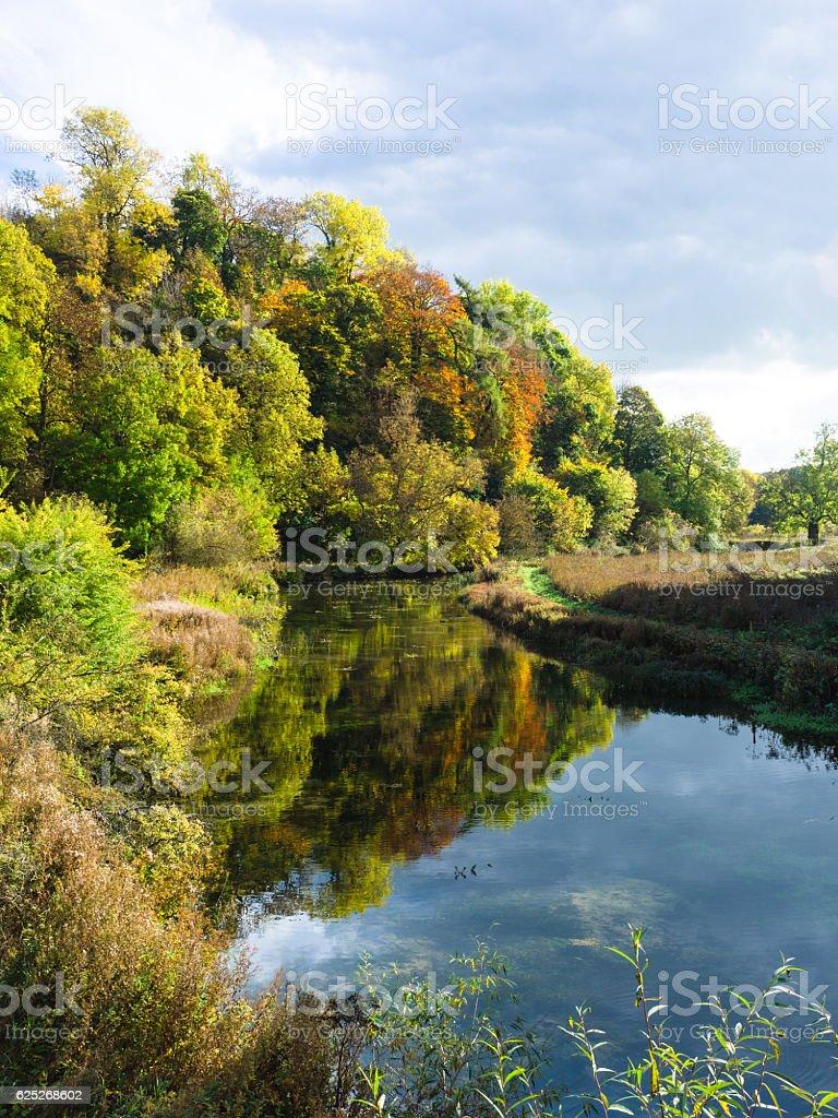 Lathkill Dale in Autumn stock photo
