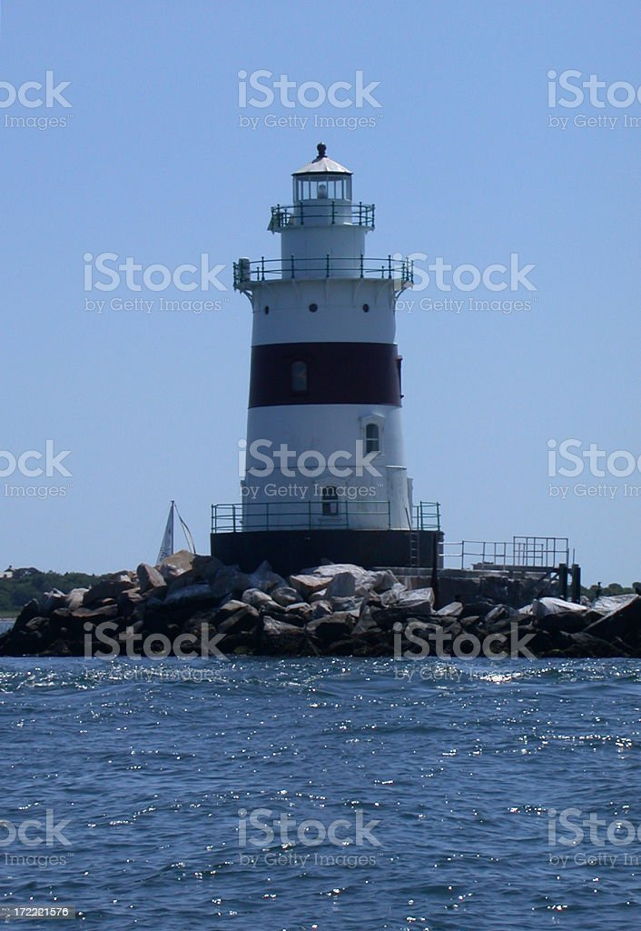 Latimer Reef Lighthouse royalty-free stock photo