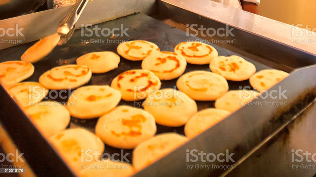 Latin American Bread - Arepas stock photo