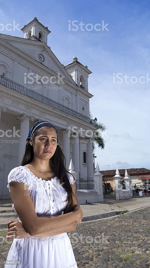 Latin american having worried thoughts about the future stock photo