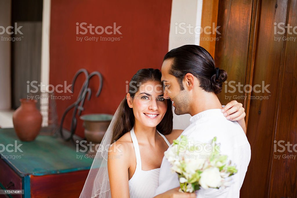 Latin bride and groom royalty-free stock photo
