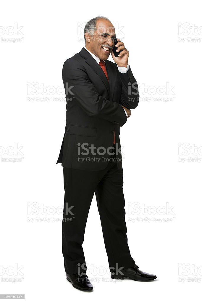 Latin business executive on cell phone royalty-free stock photo