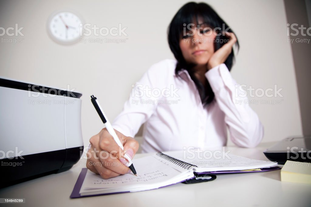 Latin businesswoman on the phone royalty-free stock photo