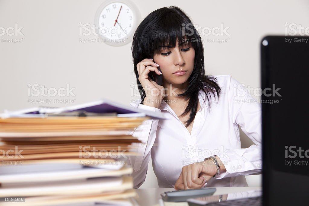Latin businesswoman on the phone royalty-free stock photo