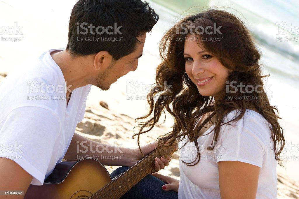 Latin couple in love stock photo