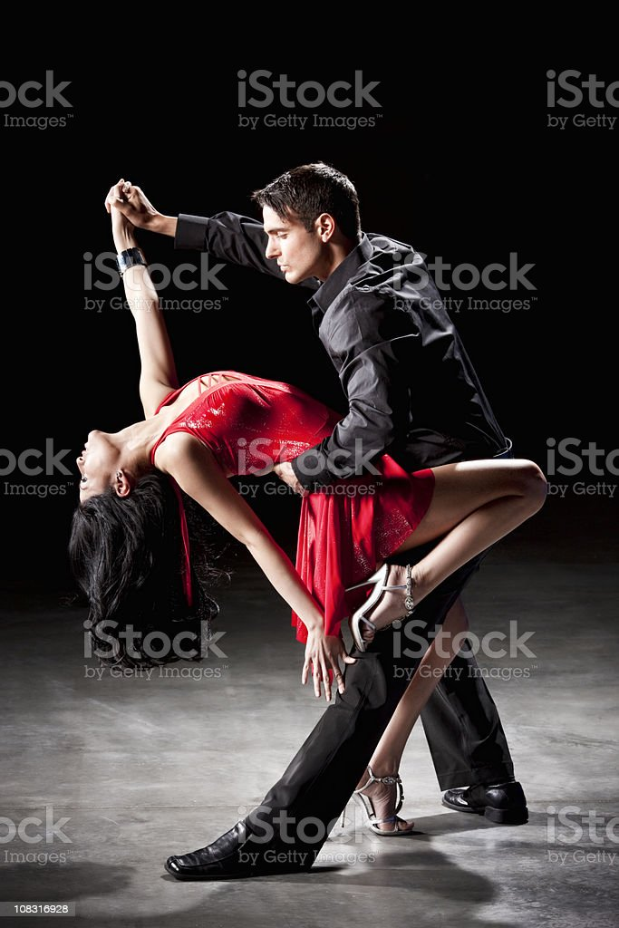 Latin Dance: Tango Dip stock photo