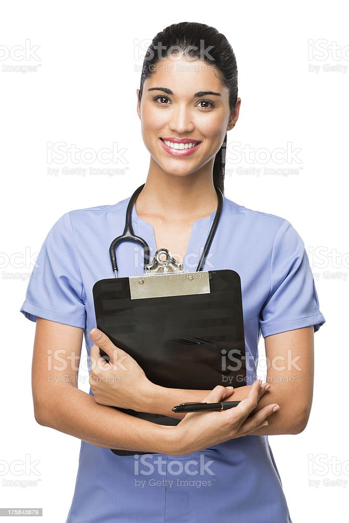 Latin health professional royalty-free stock photo