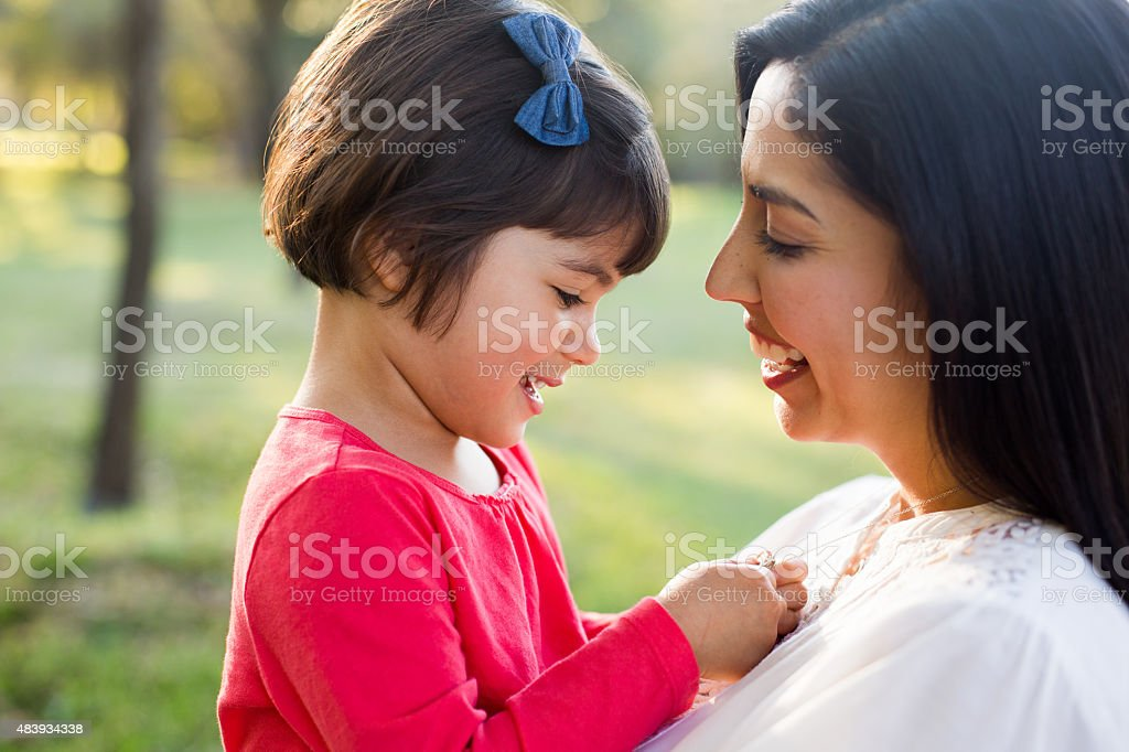Latin mother and daughter stock photo