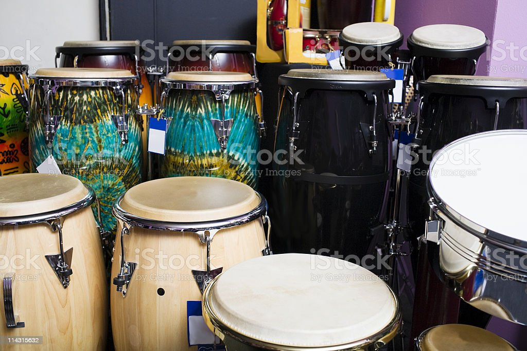 Latin percussion stock photo