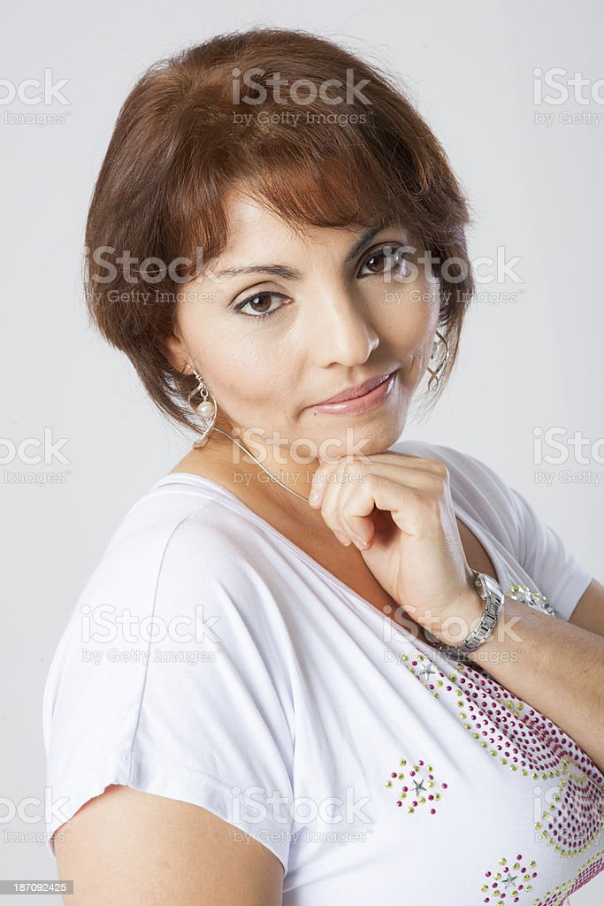 latin pretty middle aged woman royalty-free stock photo