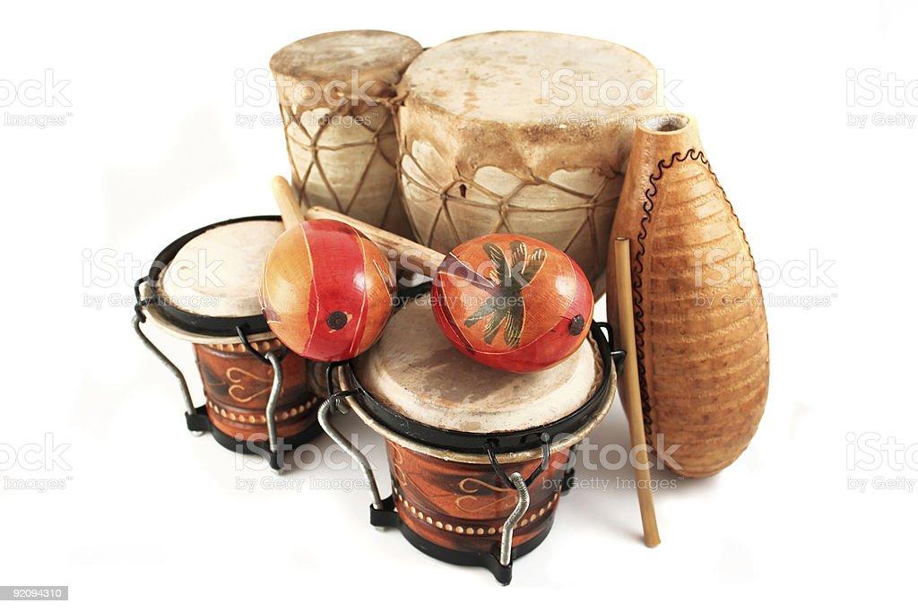 latin rhythm instruments stock photo