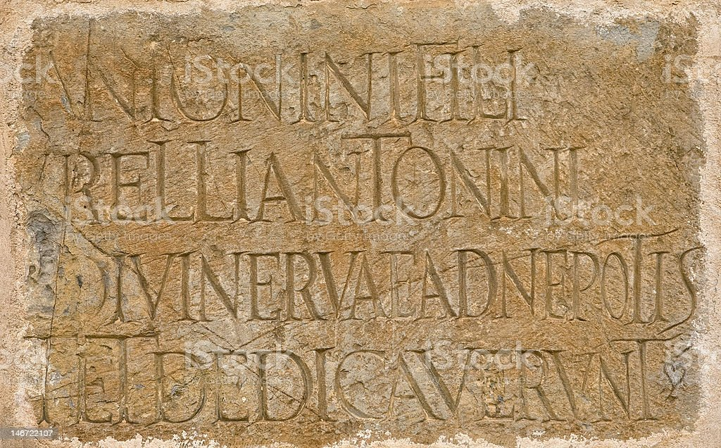 Roman latin inscription stock photo