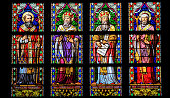 Latin Saints - Stained Glass Window in Den Bosch Cathedral
