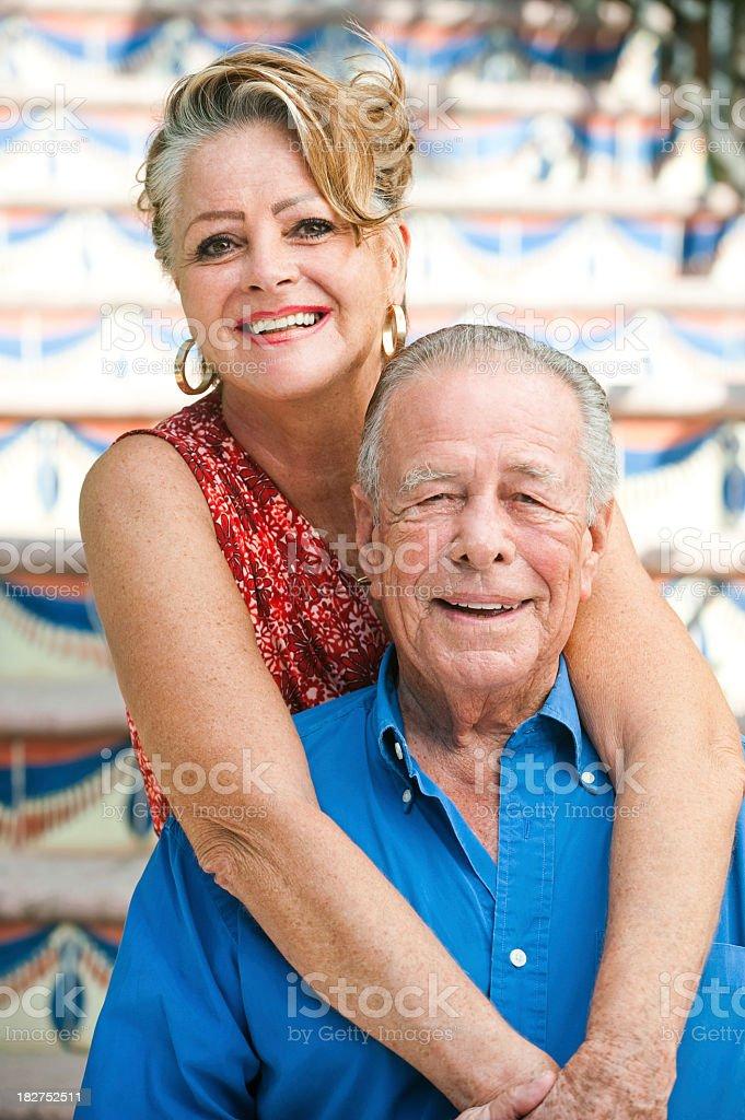 Latin senior couple royalty-free stock photo
