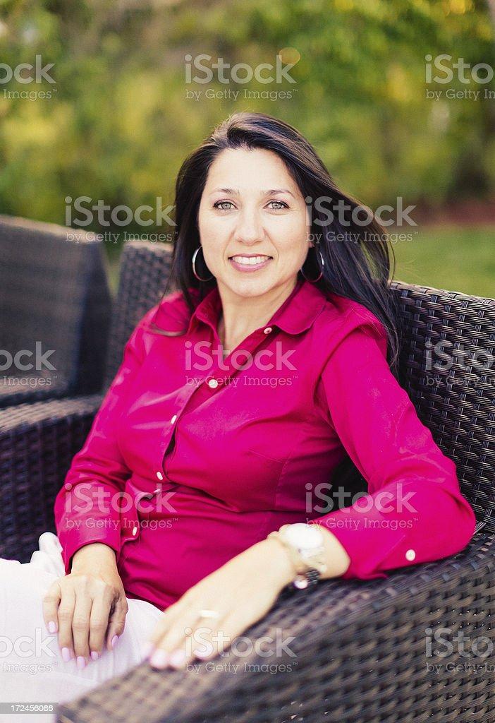 latin woman portrait royalty-free stock photo