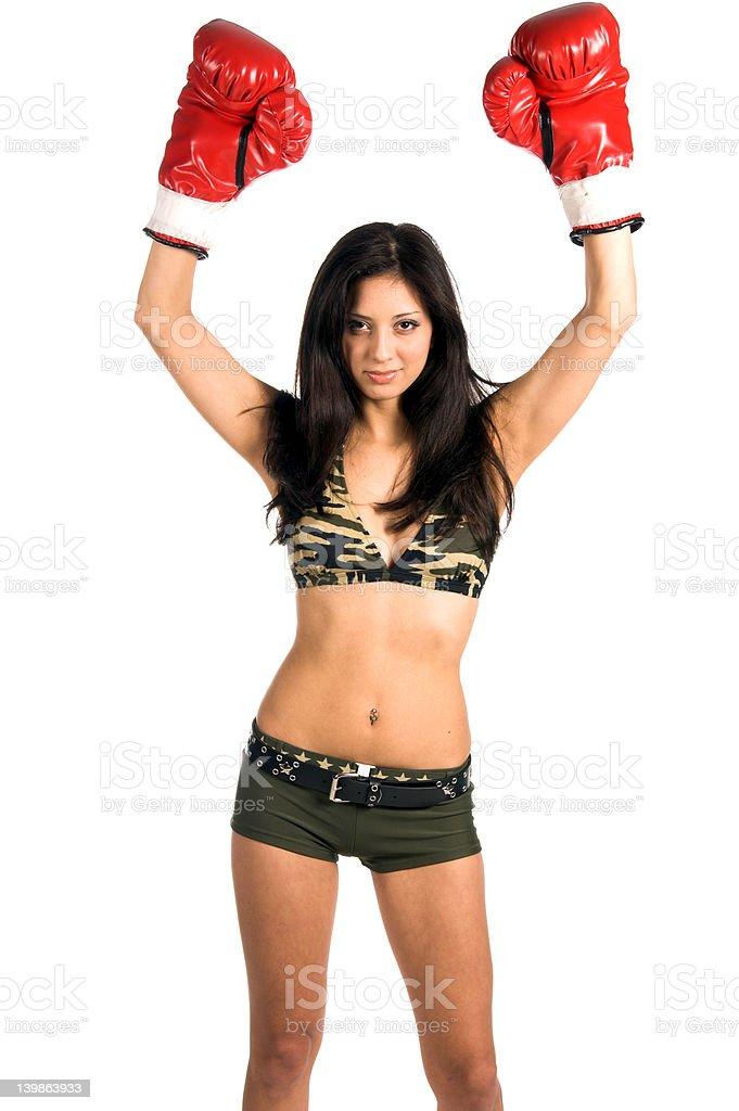 Latina Boxer royalty-free stock photo
