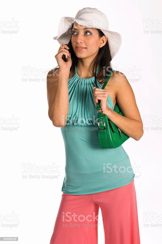 Latina Cell Phone royalty-free stock photo