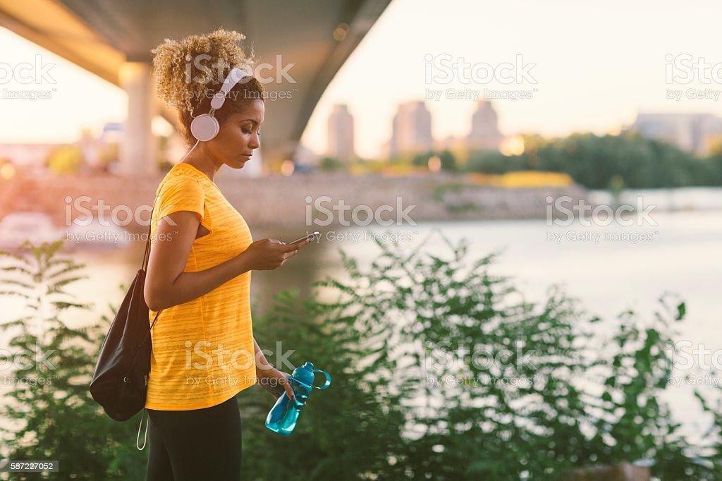 Latina Runner stock photo