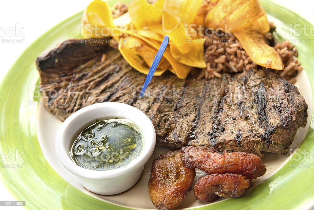 Latinamerican style grilled steak royalty-free stock photo