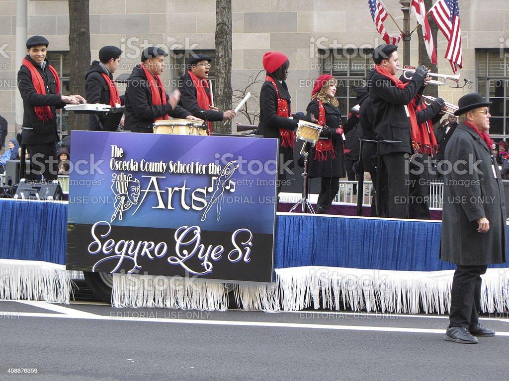 Latino Band at the Inauguration stock photo