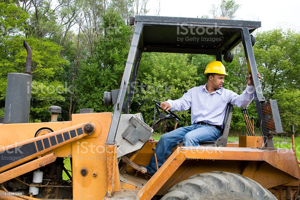 Latino construction worker royalty-free stock photo