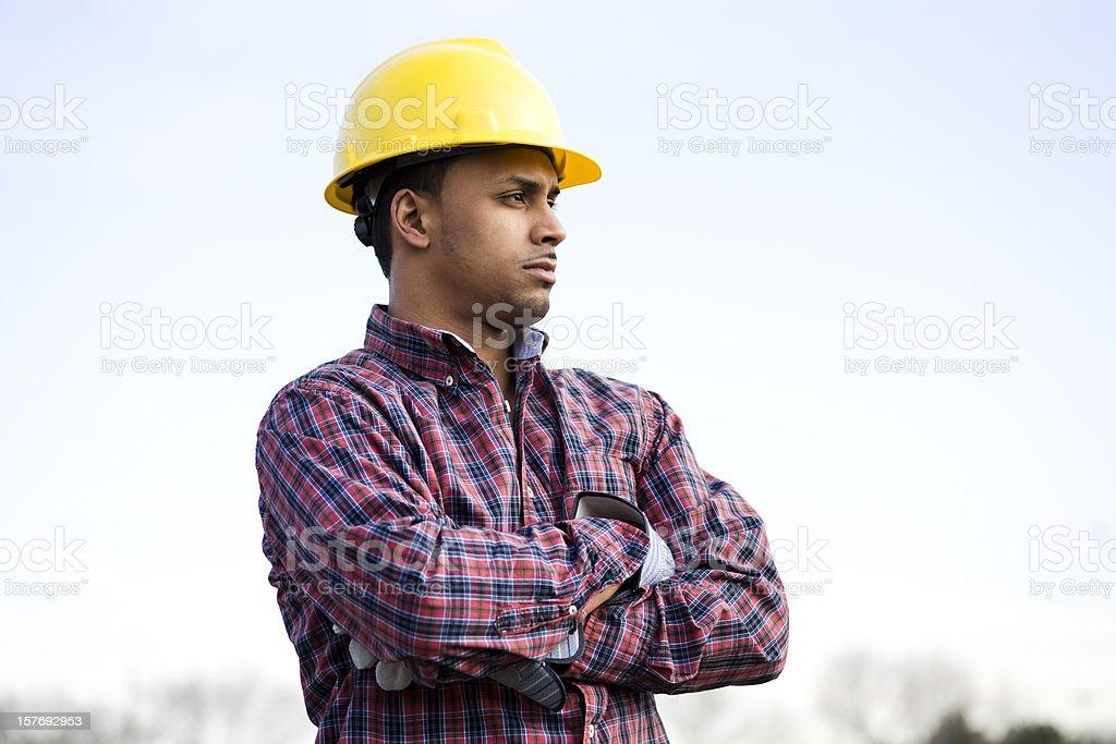 latino construction worker royalty-free stock photo