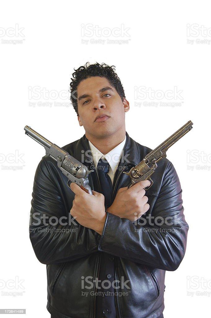 Latino Gunman stock photo