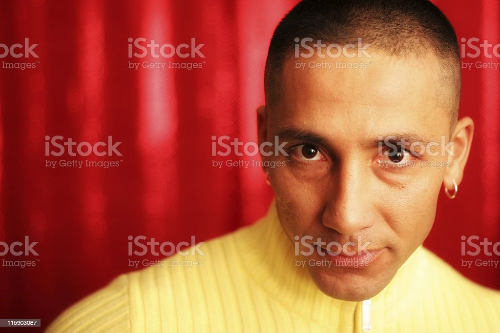 Latino on Red royalty-free stock photo