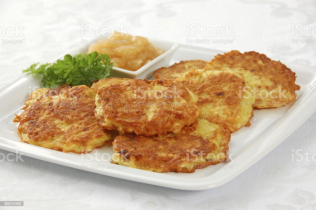 Latkes (Potato Pancakes) royalty-free stock photo
