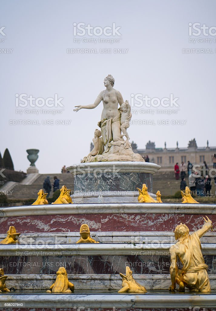 Latona Fountain at Versailles stock photo