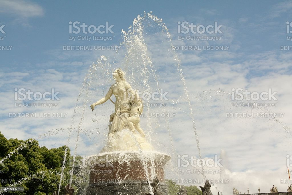 Latona fountain in front of Herrenchiemsee castle. royalty-free stock photo