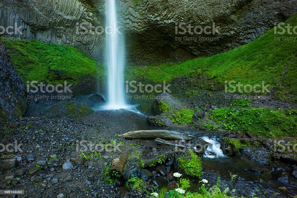 Latourell Falls, Columbia River Gorge, Oregon stock photo