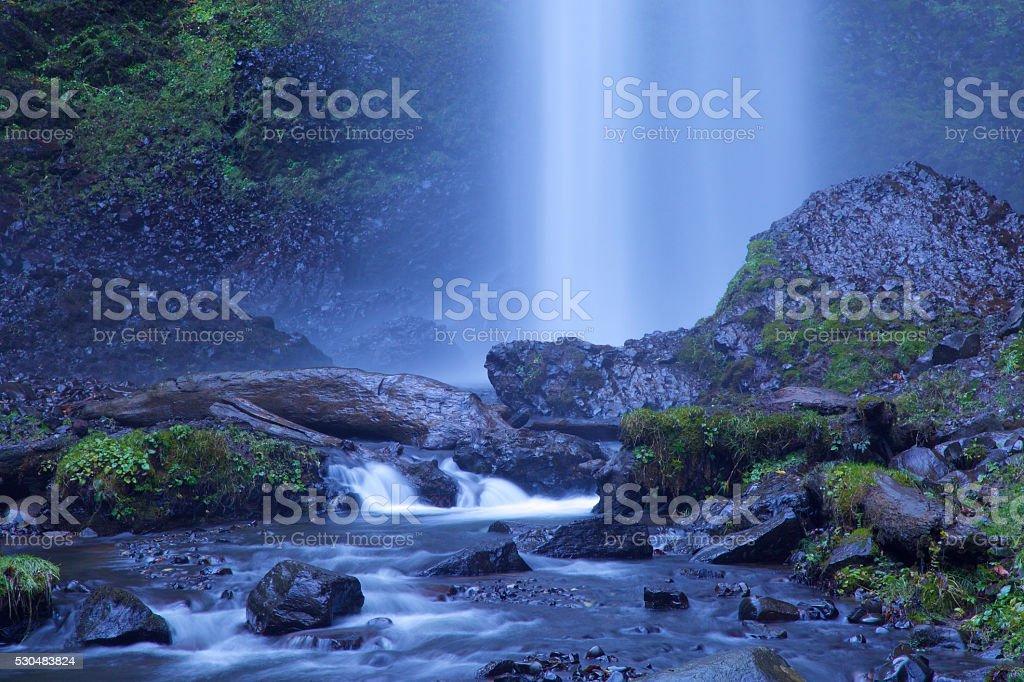 Latourell Falls in the columbia river gorge stock photo