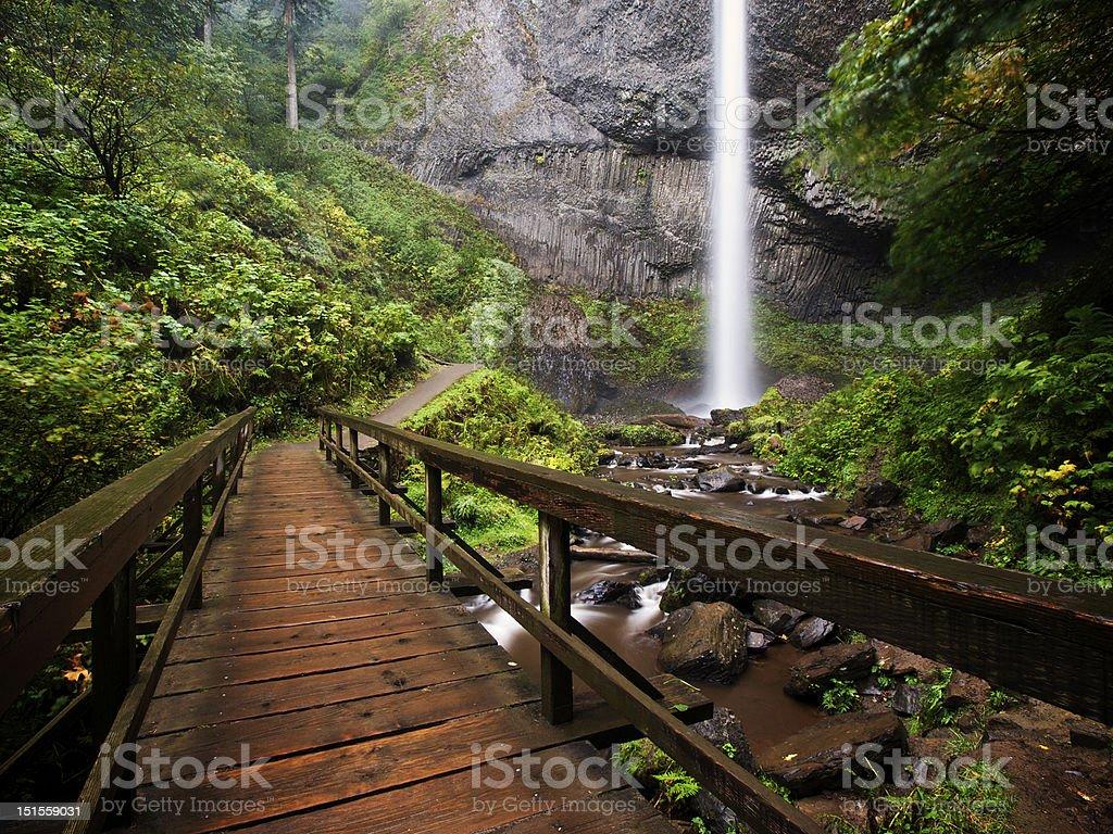 Latourell Falls stock photo