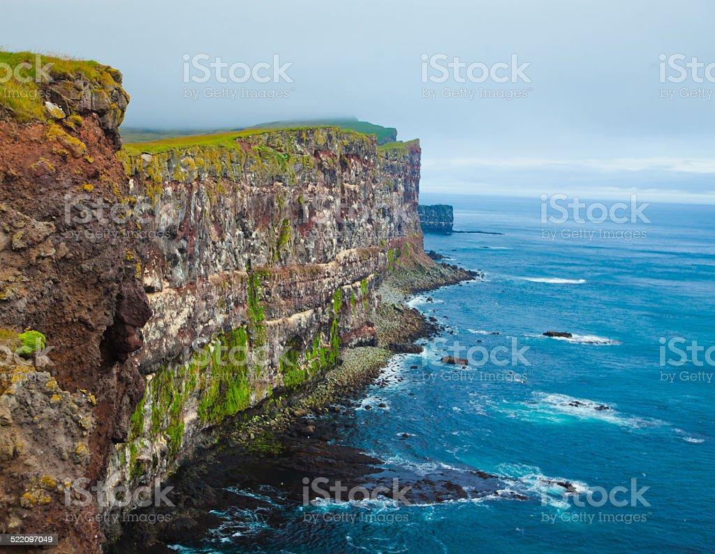 Latrabjarg Cape, Vestfirdir, Iceland, Edge of the world stock photo