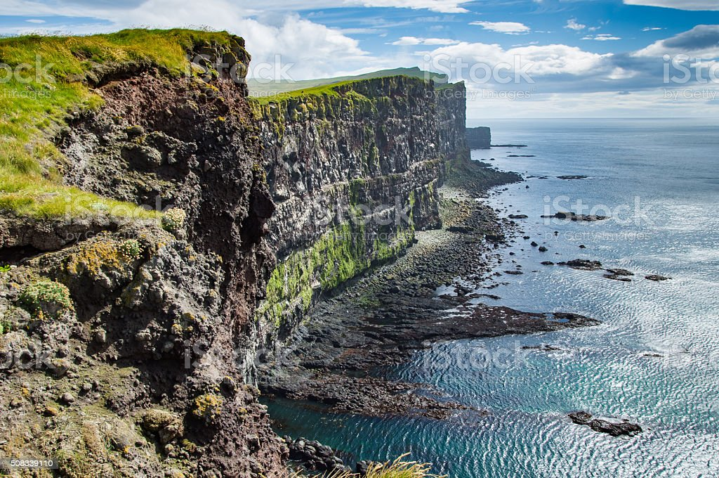 Latrabjarg cliffs stock photo